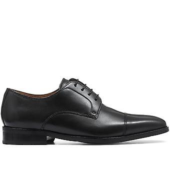 Jones Bootmaker Mens Wide-Fit Classic Leather Derby Schoen
