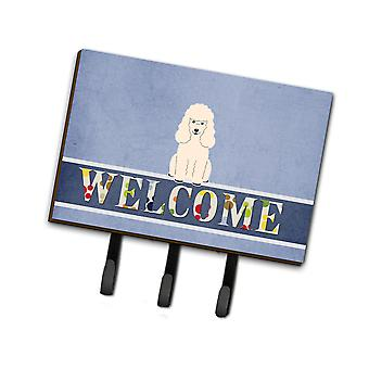 Carolines Treasures  BB5651TH68 Poodle White Welcome Leash or Key Holder