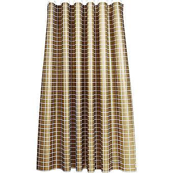 Cortina dourada do chuveiro xadrez 120x200cm