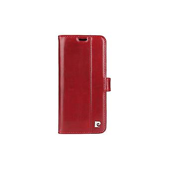 Pierre Cardin Leder Bücherregal Fall Samsung Galaxy S8 Plus - rot