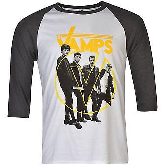 Official Mens Vamps Raglan T Shirt Crew Neck T-Shirt Casual Tee Top