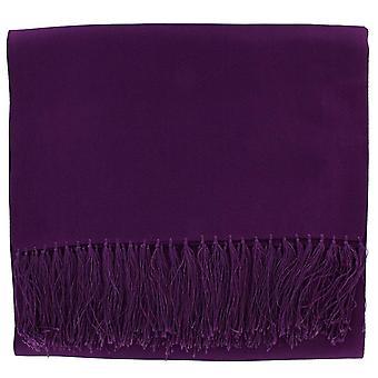 Michelsons of London Wide Textured Silk Dress Scarf - Purple