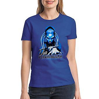 T-shirt bleu Royal cinquième élément Diva Plavalaguna féminin