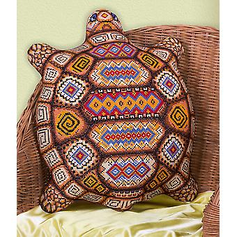Panna Cross Stitch Cushion Front Kit : Tortoise