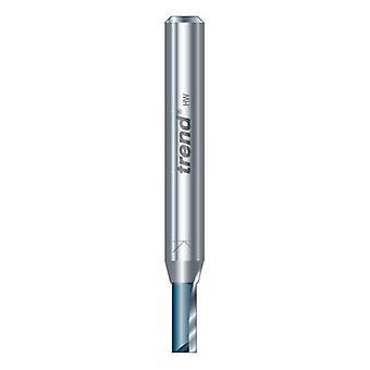 Trend c012x1/4tc två flöjt 7,9 mm Dia x 25,4 mm skär