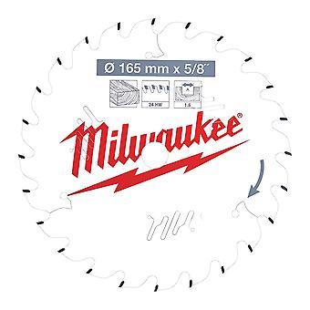 Milwaukee 4932471311 165mm x 15.87mm x 24T ATB Circular Saw Blade