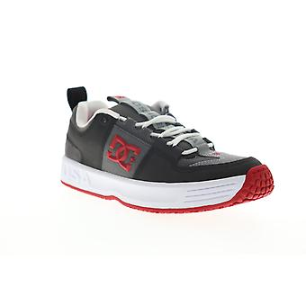 DC Lynx OG  Mens Gray Leather Lace Up Athletic Skate Shoes