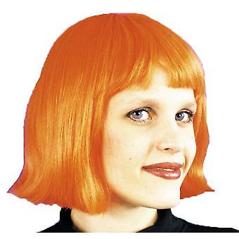 Cindy peruukki Neon oranssi naisille