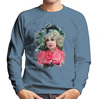 TV Zeiten Joanna Lumley Paint Splatter Herren Sweatshirt