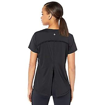 Core 10 Women's Icon Series 'Ruffle' Open Back Yoga T-Shirt, Black, Small