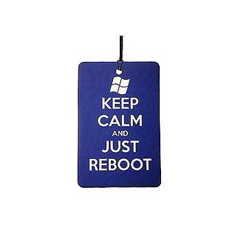 Keep Calm And Just Reboot Car Air Freshener