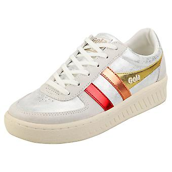 Gola Grandslam Shimmer Flare Womens Fashion Trainers in Silver Multicolour