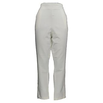 Belle by Kim Gravel Women's Pants Plus W/Side Lace Trim Cream A367283