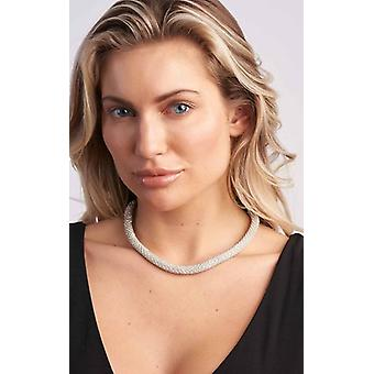 Crystal Detail Silver Necklace for Women