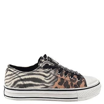 Ash VERSO Zip Animal Print Trainers