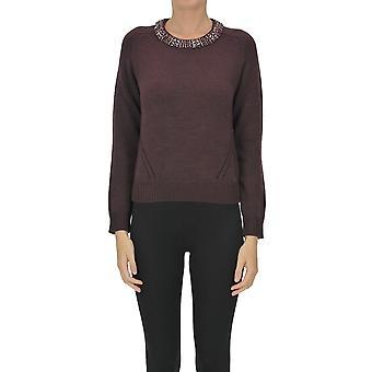 Nenette Ezgl266152 Femme-apos;s Purple Wool Sweater