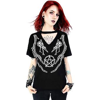 Restyle - zwarte heidense top - dames t-shirt