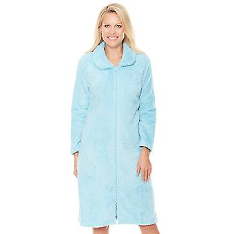 Chums Zip Supersoft Teksturert Fleece Housecoat