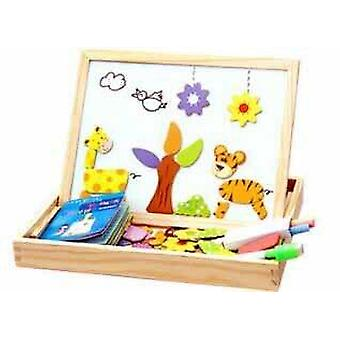 Wooden Magnetic Shapes-three Dimensional Jigsaw Puzzle Box