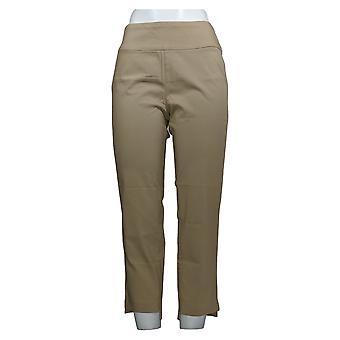 Martha Stewart Femmes-apos;s Petit Pantalon Stretch Twill Pull-On Beige A365213