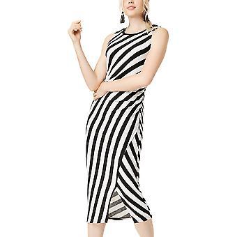 Bar III   Boho Sunset Striped Side-Ruched Knit Dress