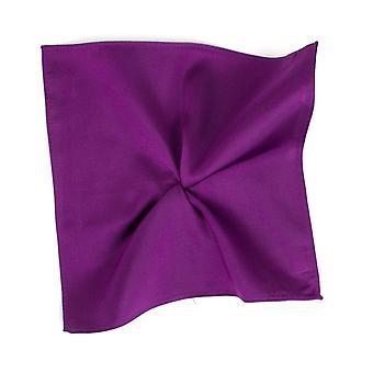 Solmiot Planet Plain Bright Purple Silk Pocket Square Nenäliina Tresanti