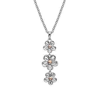 Hete diamanten sterling zilver Vergeet me niet drop hanger DP748