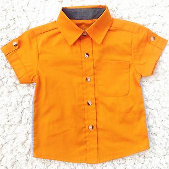 Baby Clothes, Summer Short Sleeve Classic Lapel Shirts Tops With Pocket