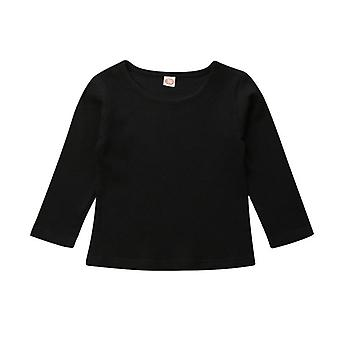 Newborn Baby T-shirts Simple Knitted Girls Clothes Long Sleeve Tops