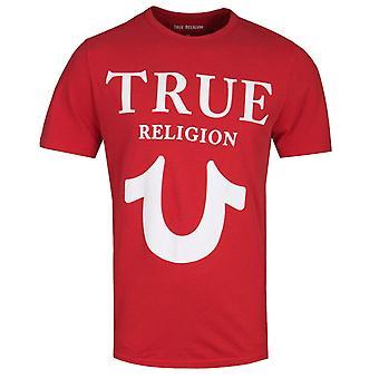 True Religion Puff Logo Print Red T-Shirt