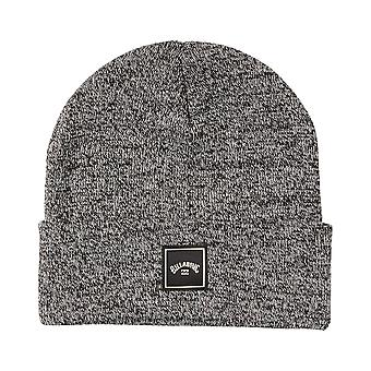 Billabong Knitted Cuff Beanie ~ Stacked black heather