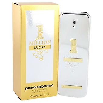 1 Million Lucky Eau De Toilette Spray By Paco Rabanne 3.4 oz Eau De Toilette Spray