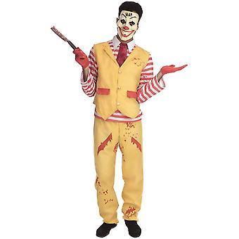 Bristol Novelty Halloween Fancy Dress Costume - Adult - Dapper Clown Male