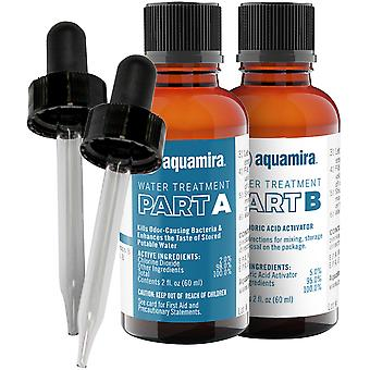 Aquamira Water Storage and Purification Treatment 2 oz Glass Bottles w/ Droppers