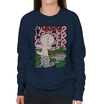 Casper The Friendly Ghost Golf Water Women's Sweatshirt
