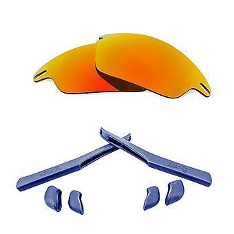 Polarized Replacement Lenses Kit for Oakley Fast Jacket Red Mirror Navy Blue Anti-Scratch Anti-Glare UV400 by SeekOptics