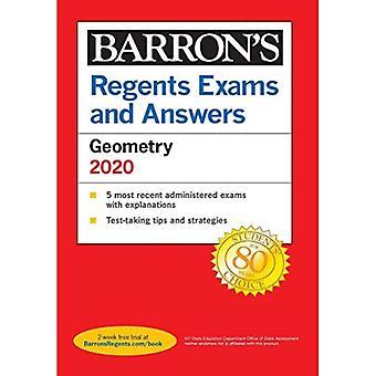 Regentes Exames e Respostas: Geometria 2020 (Barron's Regentes NY)