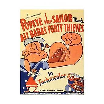 Popeye Sailor opfylder Ali Baba og film plakat (11 x 17)