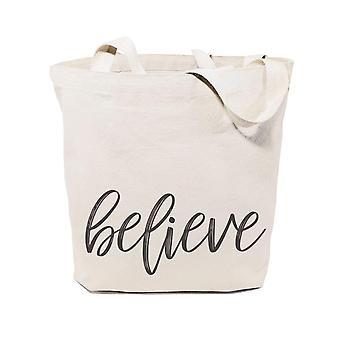 Believe-cotton Canvas Tote Bag