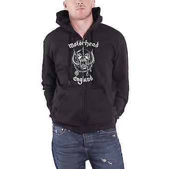 Motorhead Hoodie England warpig band logo new Official Black Zipped