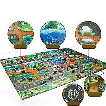 Matto kehittyvä leikkimatto, dinosaurus maailman pysäköinti kartta peli kohtaus koulutus