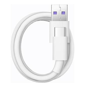 Original Huawei SuperCharge 1m TPE 5A Rapid USB Type-C Cable, For Huawei Mate 9/Mate 9 Pro/Huawei P10/P10 Plus and Other Smart Phones(White)