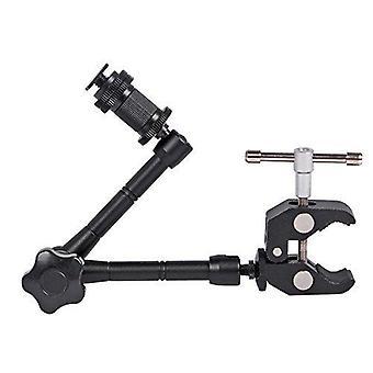 "Pluto black 11"" adjustable/power articulated magic arm super fixture for digital slr cameras/cameras"