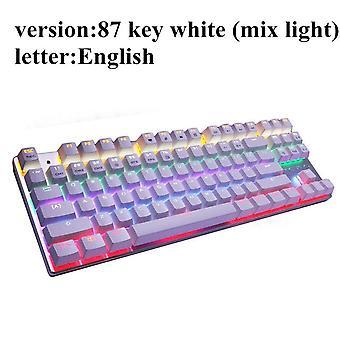 Mechanical Keyboard 87 keys Blue Switch Gaming Keyboards for Tablet Desktop