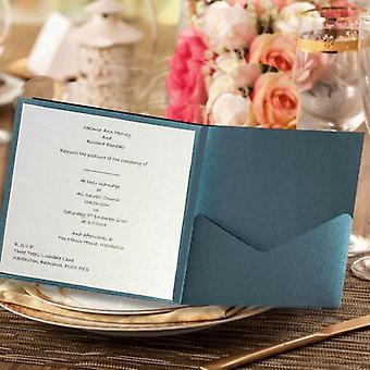10 FAIDA Square Kings Blue Pocketfold Convite NO Flap