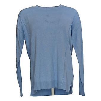 Isaac Mizrahi Live! Damen's Pullover (XXS) Rundhalspullover Blau A384076