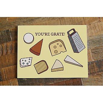 Cheese Pun Card You're Grate