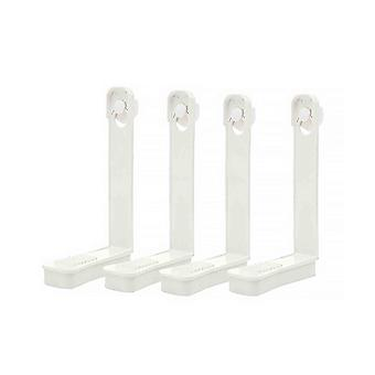 4pcs Bed Sheet Clip Bed Sheet Holder Fixing Clip Bed Sheet Fasteners White
