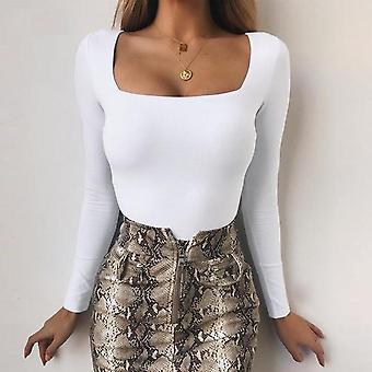 Body Long Sleeve Frauen Body Streetwear Sexy Top