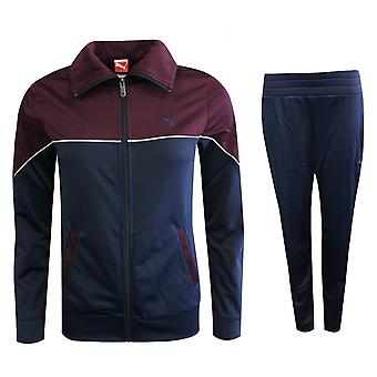 Puma Poly Suit Womens Full Zip Lightweight Tracksuit Polyester Navy 829968 06 M9